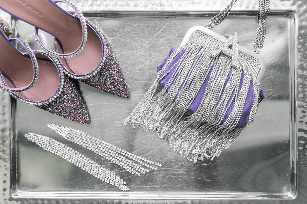 purple-sparkle-shoes-clutch