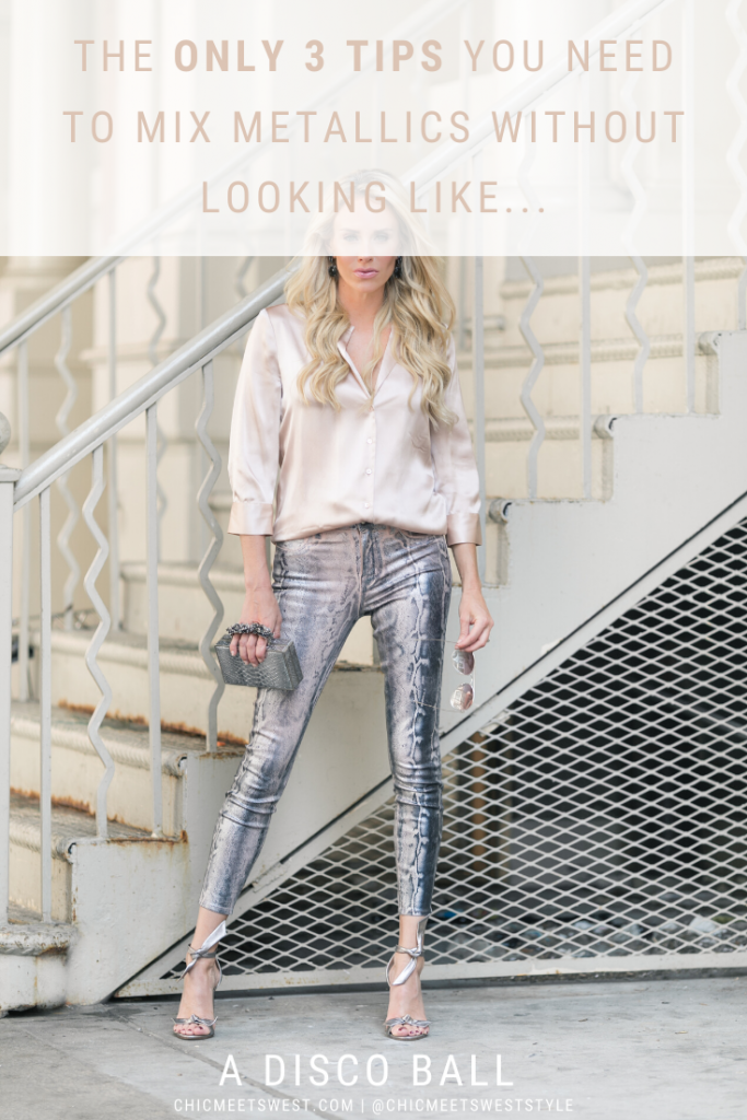 The only 3 tips you need to mix metallic clothing.