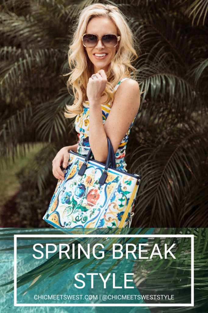 Spring Break Style from fashionable blonde woman